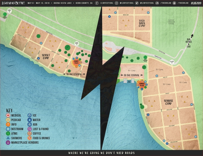 Lightning in a Bottle Camping Map